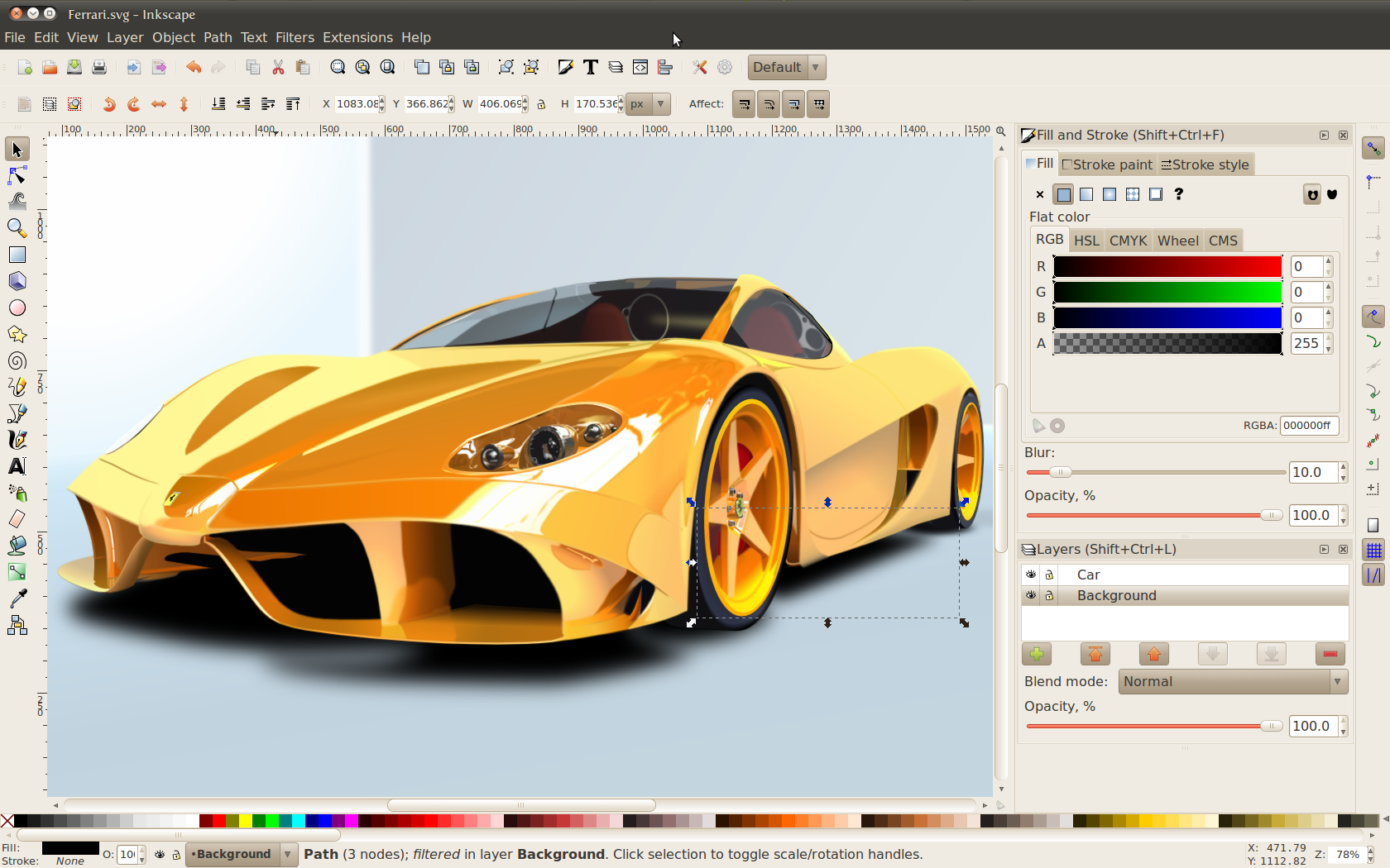Inkscape for Mac OS X screenshot