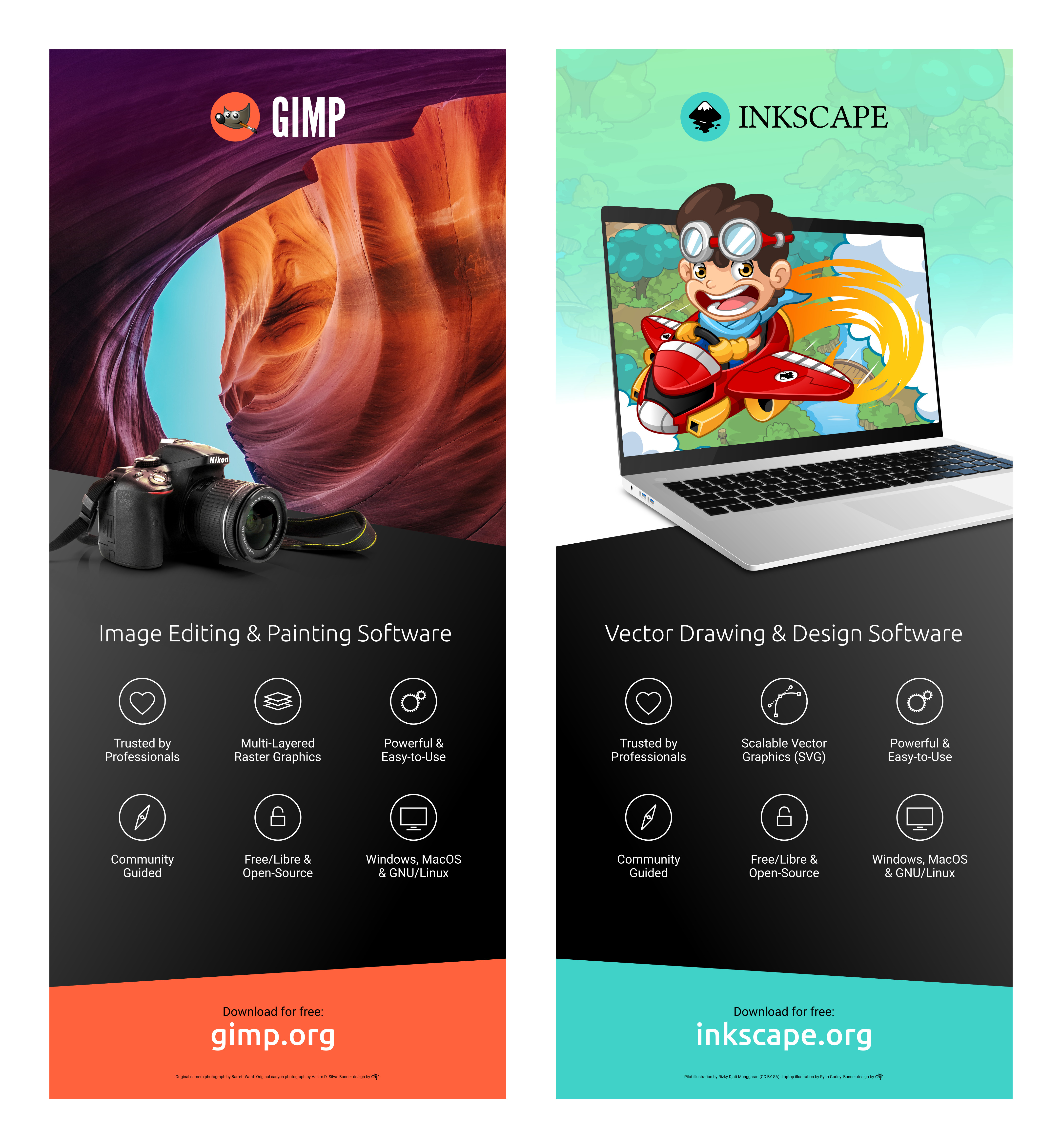 GIMP/Inkscape Banners | Inkscape