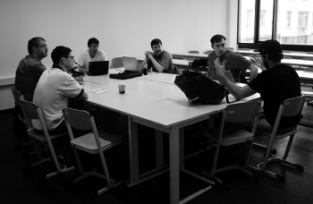 Inkscape developers discussing, CC by yemanjalisa