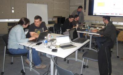 Hackathon 2015 d'Inkscape, CC-By-SA Inkscapers au Hackathon 2015 à Toronto
