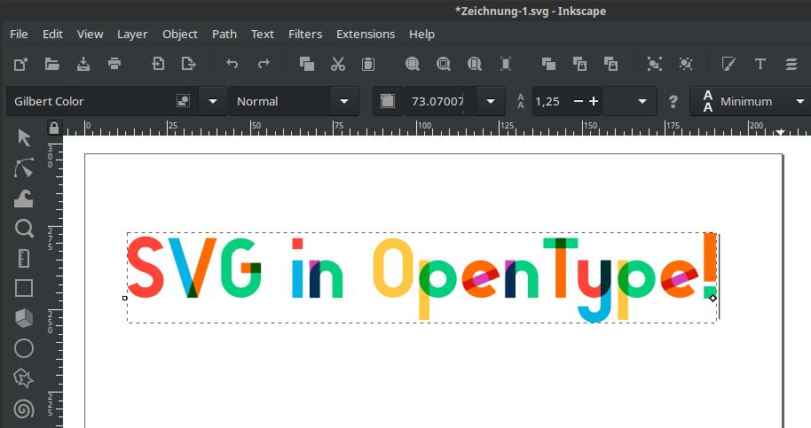 SVG Color font (Gilbert Color)
